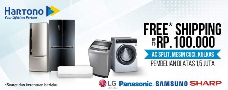promo free shipping hartono elektronik