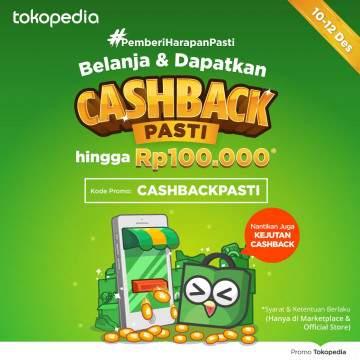 Harbolnas 2017, Promo Cashback 20% Hingga 100 Ribu di Tokopedia Tanpa Minimum Transaksi