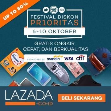 Lazada Adakan Festival Diskon Prioritas untuk Berbagai Macam Produk
