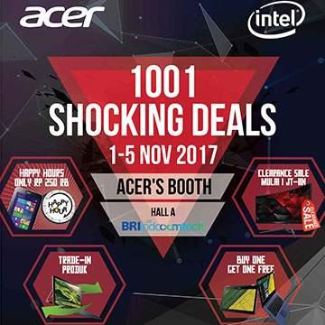 Promo Acer di Indocomtech 2017, Cashback Hingga Rp4 Juta