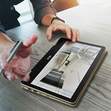 ASUS VivoBook Flip TP203, Laptop Multifungsi yangInovatif