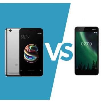 Xiaomi Redmi 5A vs Nokia 2, Duel Hp 5 inch Murah