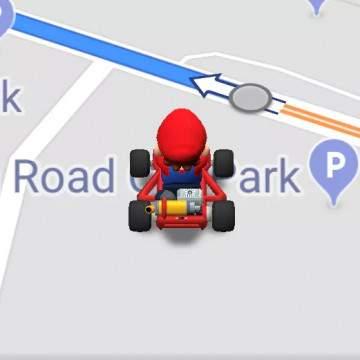 Lakukan Navigasi di Aplikasi Google Maps Ditemani Super Mario