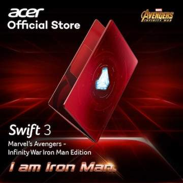 Swift 3 Iron Man Edition, Laptop Baru Acer berfitur Fingerprint Reader Otomatis