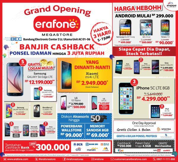 Erafone mengadakan Grand Opening di BEC gan!!! - Pricebook
