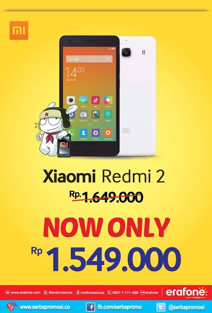 Xiaomi Redmi 2 Kini Rp 1549000