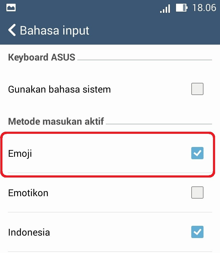 Cara Munculin Emoji Di Keyboard Asus Zenfone
