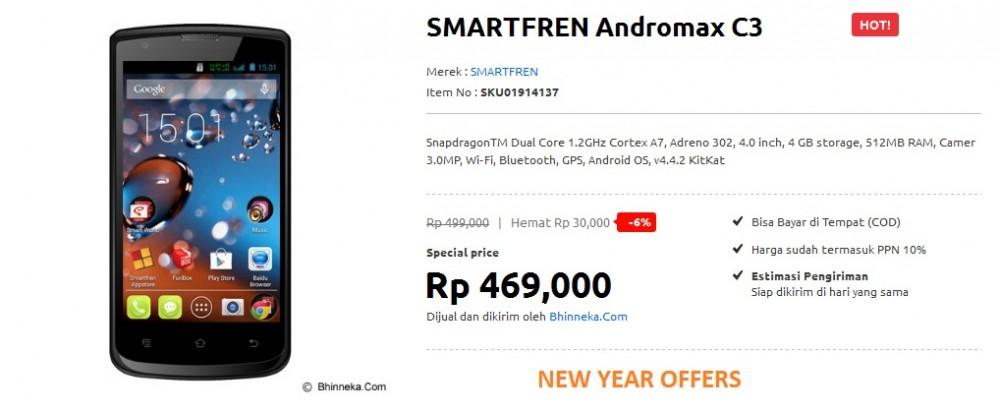 dengan android Kitkat yang lebih murah dari SMARTFREN Andromax C3 ...