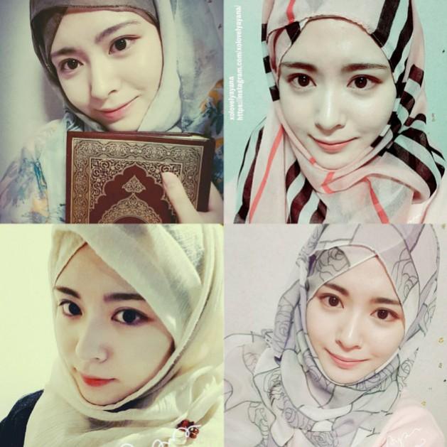 wiih wanita imut korea yang masuk islam hebohkan netizen