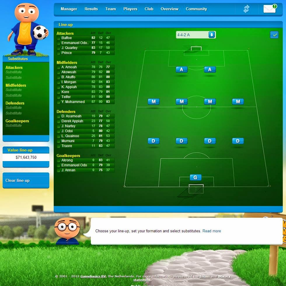 Game Football Manager Online Terbaik Android