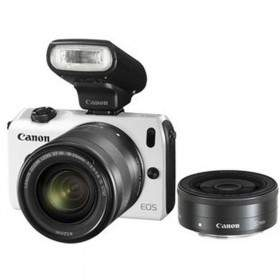 Mirrorless Canon EOS M Kit 18-55mm + 22mm + S90EX