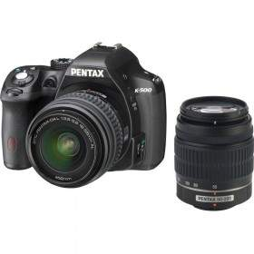 DSLR Pentax K-500 Kit 18-55mm + 50-200mm