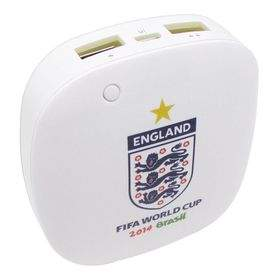 Taff MP60 6000mAh 2014 Brazil World Cup 32 Team England White