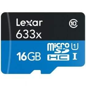 Kartu Memori Lexar microSD Class10 UHS-I 16GB