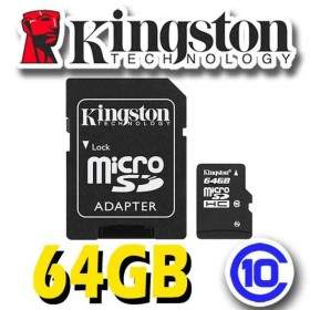 Kingston microSDHC Class 10 64GB