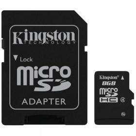 Kingston microSDHC Class 4 8GB with Adaptor