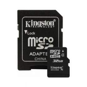 Kingston microSDHC Class 4 32GB with Adaptor