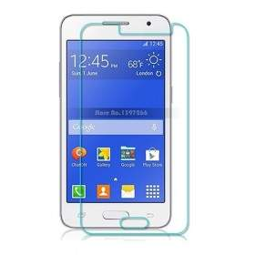 Pelindung Layar Handphone Delcell Tempered Glass Round Edge For Samsung Galaxy Core 2