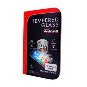 Tempered Glass HP Delcell Tempered Glass Round Edge For Samsung Galaxy Note 2