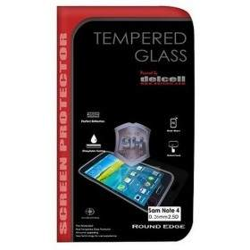 Tempered Glass HP Delcell Tempered Glass Round Edge For Samsung Galaxy Note 4