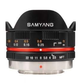Lensa Kamera Samyang 7.5mm T3.8 Fisheye VDSLR
