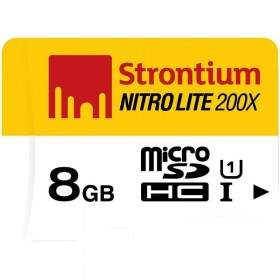 Strontium Nitro Lite 200X microSDHC SRL8GTFU1 8GB Class 10