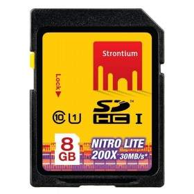 Strontium Nitro Lite 200X SDHC SRL8GSDU1 8GB Class 10