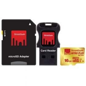 Strontium Nitro Plus 4K microSDHC SRP16GTFU1C 16GB