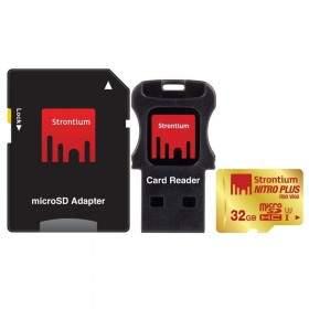 Kartu Memori Strontium Nitro Plus 4K microSDHC SRP32GTFU1C 32GB