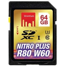 Memory Card / Kartu Memori Strontium Nitro Plus 4K SDHC SRP64GSDU1 64GB Class 10