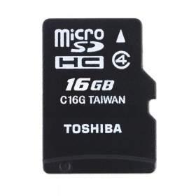 Memory Card / Kartu Memori Toshiba microSDHC C16GR7W4 16GB Class 4
