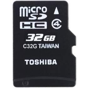 Memory Card / Kartu Memori Toshiba microSDHC C32GR7W4 32GB Class 4