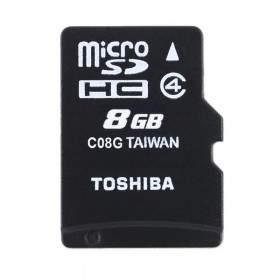 Toshiba microSDHC 8GB C08GR7W4 Class 4