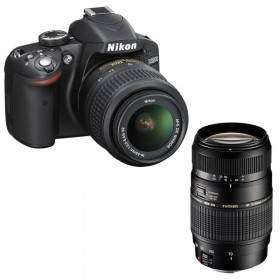DSLR Nikon D3200 kit 18-55mm + 70-300mm