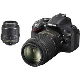 DSLR Nikon D5200 Kit 18-55mm + 18-200mm