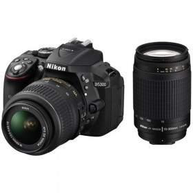 DSLR Nikon D5300 Kit 18-55mm + 50mm + 70-300mm