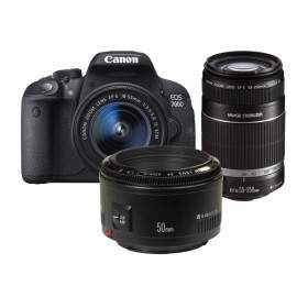 DSLR Canon EOS 7D Kit EF 18-55mm + 55-250mm + 50mm
