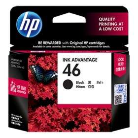 Tinta Printer Inkjet HP 46-CZ637AA Black