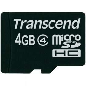 Memory Card / Kartu Memori Transcend microSDHC 4GB Class 4