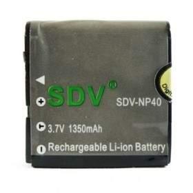 Baterai Kamera SDV NP-40 / 0837 1350mAh