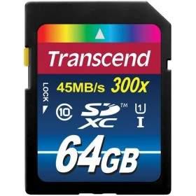 Transcend Premium SDXC/SDHC 64GB UHS-I Class 10 300x