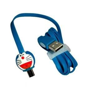 Kabel Data HP Fancy Doraemon Biru