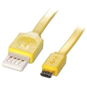 LINDY Flat Type A to Micro-B USB 1M