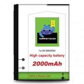Baterai & Charger HP HIPPO Battery for Blackberry 8900 2000mAh