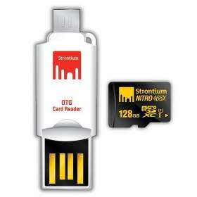 Kartu Memori Strontium Nitro 566X microSDXC SRN128GTFU1T 128GB Class 10