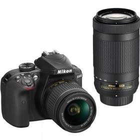 DSLR Nikon D3400 Kit 18-55mm + 70-300mm