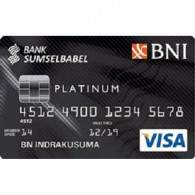 BNI Bank SumselBabel Card Platinum